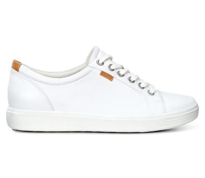 Mujer Cordones Planos Zapato Blanc Zapatos Deportivo Piel 4ASc3Ljq5R