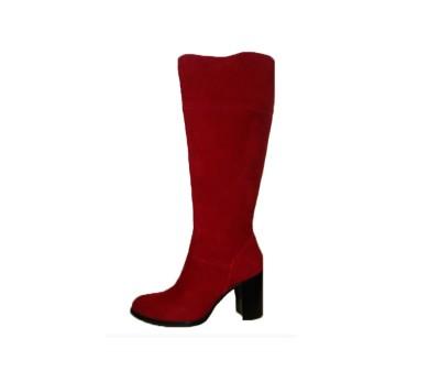 Bota Tacón Alta Y Botines Botas Comprar Caña Mujer Rojo Ante rxxIA7O