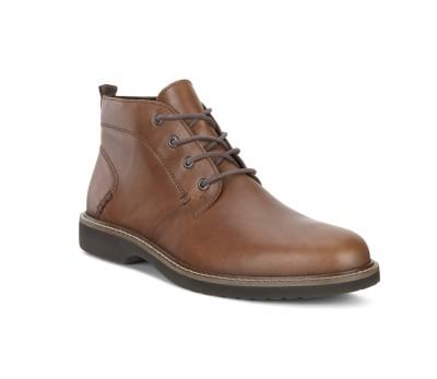 bcd561e2e Bota tobilllera hombre piel marrón cordones - Botas y botines ...