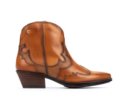 Botín Vergel piel brandy tacón cowboy