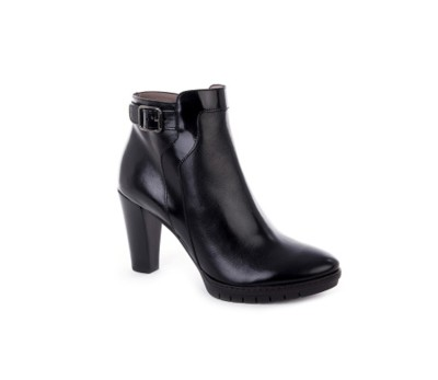 ae36da39401 Botín mujer combina 2 pieles negro tacón - Botas y botines - Mujer ...