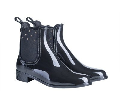 0ce78901161fc Botín urban star mujer goma brillante negro - Botas de agua - Mujer ...