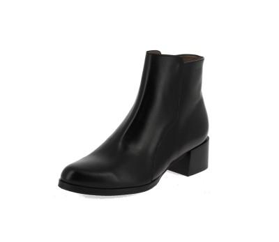 Botín mujer piel negra tacón cuadrado Botas y botines botines botines Mujer ad652c