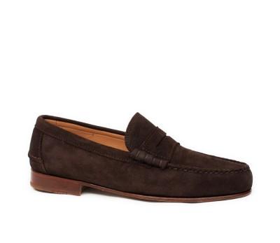 adceb345c48 Mocasín hombre ante chocolate - Zapatos de fiesta - Hombre