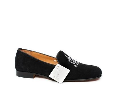 4fd2652356fa9 Slipper hombre ante negro - Zapatos de fiesta - Hombre
