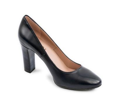 88dfac5947d3d Zapato mujer salón piel marino tacón - Salón - Mujer