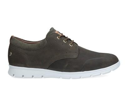 Zapato hombre nobuk kaki cordones