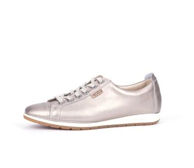 lo último 4bc00 62d49 Zapato mujer piel onix metalizado cordones