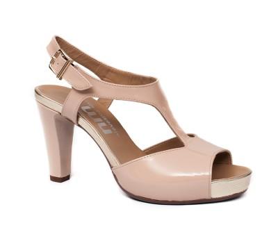 Nude Plataforma De Señora Sandalia Tacón True Zapatos Charol WEYID2H9