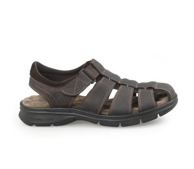 Sandalia cerrada hombre napa grass marrón
