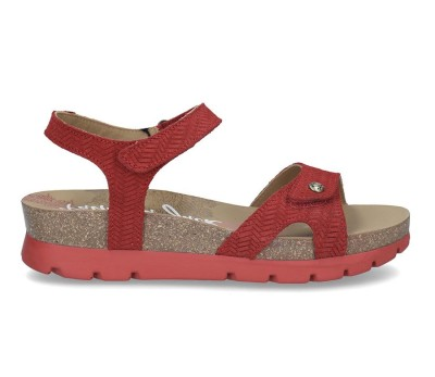 Velcros Plataforma 5cm Sandalia Con Roja De Corcho Mujer Piel hQCtxBrds