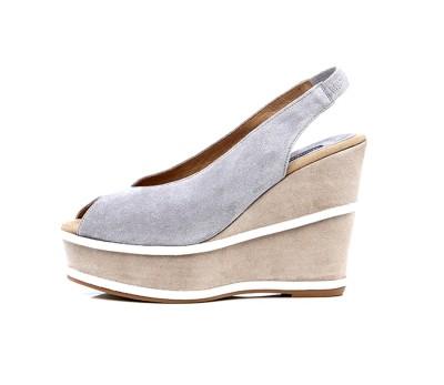 el más nuevo moda mejor valorada super barato se compara con Sandalia peep toe ante combinado cuña plataforma