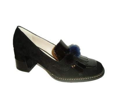 Salón Ante Y Zapato Mujer Combina Negro Charol Abotinado xqzzt0fw1