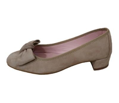 Zapato mujer ante piedra tacón bajo