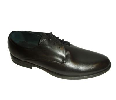Zapato blucher hombre piel lavatto negro