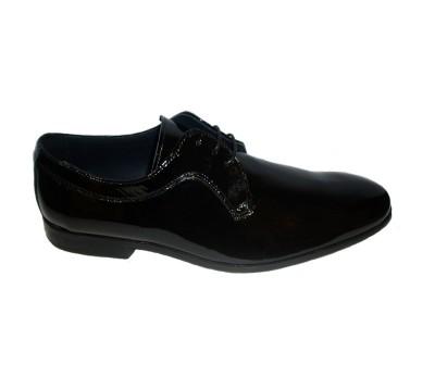 Zapato blucher hombre charol negro