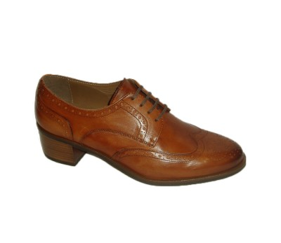 diseño atemporal 55215 f424b Zapato abotinado mujer piel terra cordones