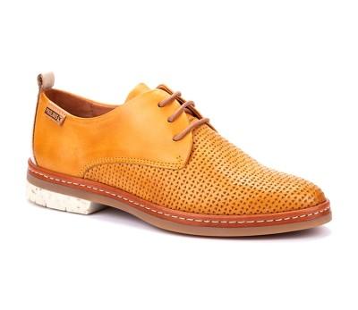 Zapato Santander mujer piel honey cordones