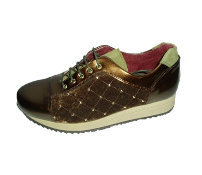 095cb0dfb00ee Casual mujer combina tres pieles marrón - Blucher Cordones - Mujer ...