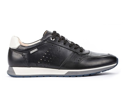 Zapato deportivo hombre en piel black cordones
