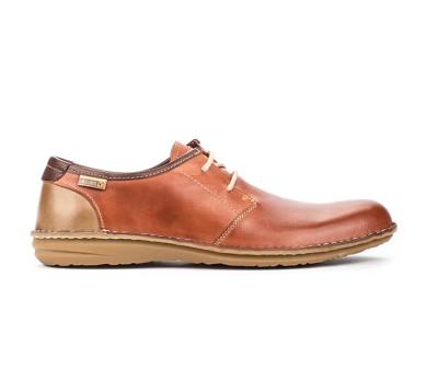 Zapato Santiago hombre cordones piel teja