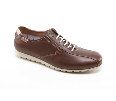 6ac37bd5c Zapato casual hombre piel marrón cordones - Deportivo - Hombre ...