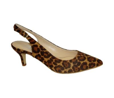 venta caliente más nuevo promoción especial gran descuento Chanelita mujer piel potro leopardo tacón