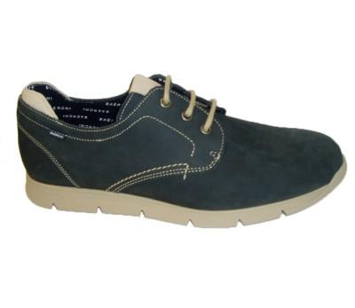 Zapato de cordón azul marino piso caucho plantilla extraible