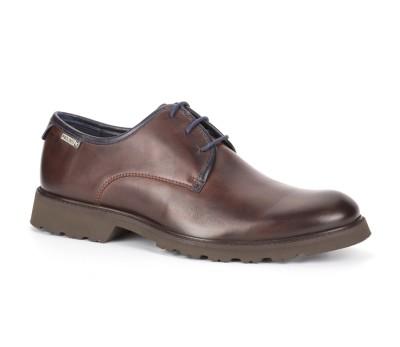 Zapato glasgow cordones hombre piel olmo/blue