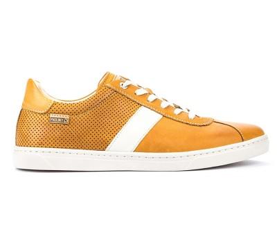 Zapato casual Belfort hombre piel mostaza cordones