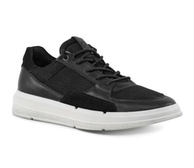 Zapato deportivo hombre piel negro cordones