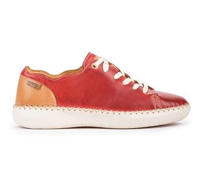 Zapato deportivo Mesina mujer piel coral cordones