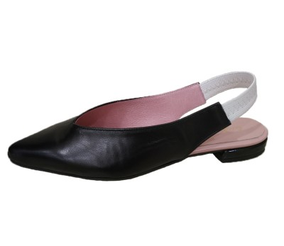 Zapato destalonado mujer piel mestizo negro