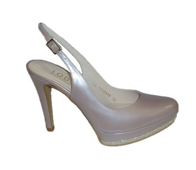 Zapato destalonado mujer piel likid nude
