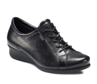 Ecco Abelone - Chaussures À Lacets En Cuir Pour Femme Noire Noir Myn09p4T5