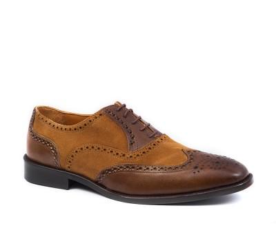 diversificado en envases descuento venta online Zapato ingles hombre combinado piel y ante, hecho a mano