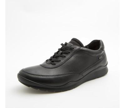 650e8f6f955 Zapato goretex mujer piel negro cordones - Zapatos planos - Mujer ...