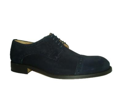 Zapato hombre blucher serraje marino