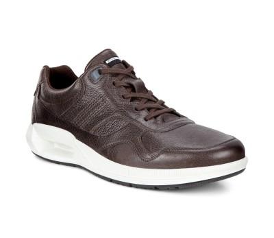 Zapato deportivo hombre piel coffee cordones