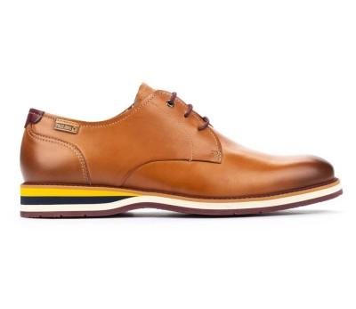 Zapato Arona hombre piel brandy cordones