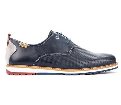 Zapato Berna pie combinada blue cordones