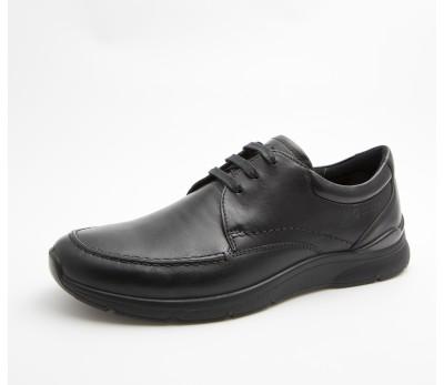 Zapato hombre piel negro cordones