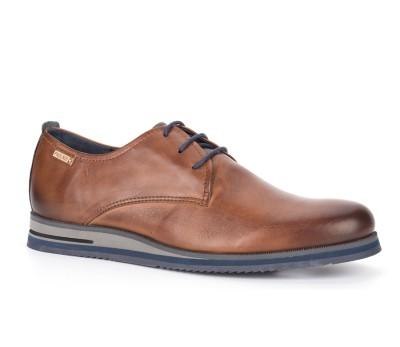 Zapato León hombre cordón piel cuero/blue