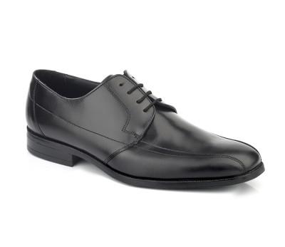 Zapato hombre piel cabra negro cordones
