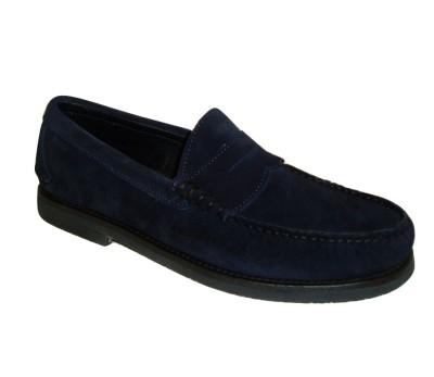 Boutique en ligne 3cd43 c8a7e Zapato mocasín hombre ante marino
