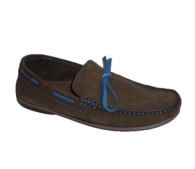 268d7db4224 Zapato hombre nobuck castaño pasados azul - Manoletinas - Hombre ...