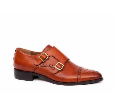 9ff7f0989ab Zapato mujer piel cuero 2 hebillas - Zapatos planos - Mujer ...
