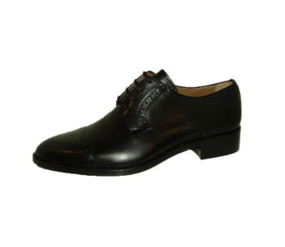 Zapato blucher mujer piel negra