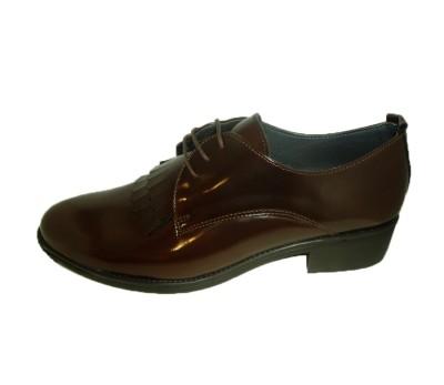 bcdbc2f81c7 Blucher mujer cuero florentic chocolate - Zapatos de cordón - Mujer ...