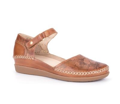 e0f757181d62 Zapato mujer piel brandy velcro